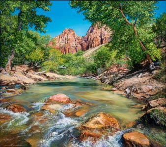 Zion Spring - Commissioned Painting